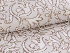 0,5 M Antick Baroque Pattern Gray Beige Cotton Satin Fabric, per Metre