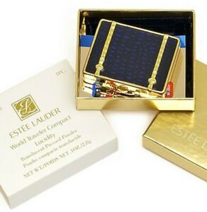 "Estee Lauder Powder Compact ""World Traveler"" MIBB"