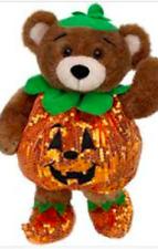 New ~ Build A Bear 3-Pc Halloween PUMPKIN ORANGE SEQUIN Outfit Costume+Hat+Shoes