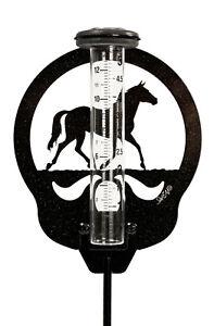 SWEN Products HORSE QUARTER Rain Gauge