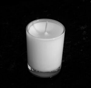 40hr OPIUM Perfume SCENTED White ECO SOY WAX Votive Jar Candle Cotton Wick Gift