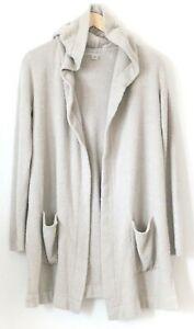Barefoot Dreams Cozychic Lite Coastal Hooded Carigan Size Medium Womens Sweater