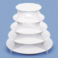 "5 Tier Round Paper Dessert Tower Design Cupcake Stand 15"" X 20"" Serving Party"