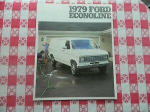 1979 Ford Econoline Vans Original Sales Brochure in Mint Condition