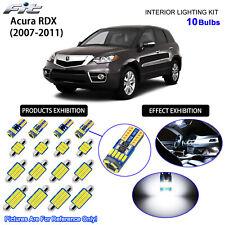 10 Bulbs LED Interior Light Kit Cool White Dome Light For 2007-2010 Acura RDX
