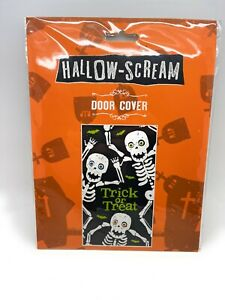 Halloween Trick Or Treat Door Cover Bloody Hand Prints Spooky Theme Party Decor