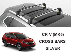 Turtle Air V2 Roof Rack, Cross Bar Silver Color for Honda CR-V MK5 2017-2021