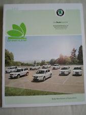Skoda GreenLine price list & technical specifications brochure Nov 2010