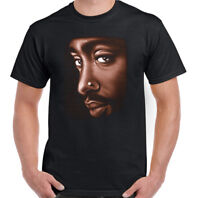 2Pac Face Mens Rapper T-Shirt Tupac 2 Pac Shakur Biggie Smalls Rap Big Notorious