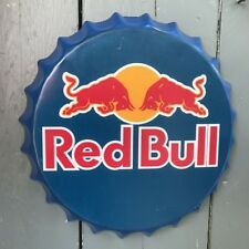 RED BULL Metal Wall Sign Retro Tin Plaque Home Bar Man Cave Gift Bottle Top Sign