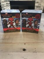 Lot Of 2 Funko Mystery Mini Marvel Spider-Man Far From Home Bobble Head Mystery