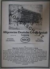 Allgemeine Deutsche Credit-Anstalt Leipzig Bank Große Werbeanzeige anno 1926