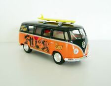 1962 VW Kombi Surfing Van + Surfboard Custom Graphics 1:32 Diecast