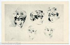 ARTIST SIGNED. PAUL CéSAR HELLEU. PORTRAITS. JOLIES FEMMES. GORGEOUS WOMEN