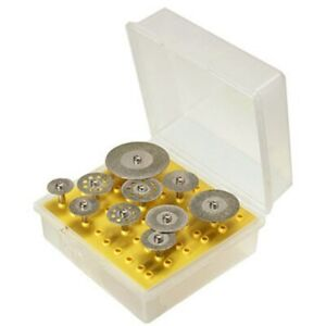 10 tlg Diamant Trennscheiben Dremel Proxxon Metall Glas Stein Modellbau Set