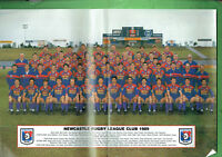#BB3.   RUGBY BIG LEAGUE 1989 NEWCASTLE KNIGHTS TEAM PINUP