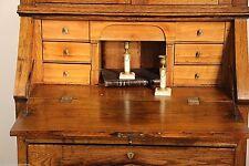 Antique desk bureau bookcase Secrétaire Empire provincial Biedermeier 1800's