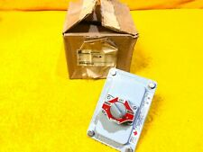 NEW APPLETON ECSK345 600 VAC EXPLOSION PROOF HAND - OFF - AUTO SELECTOR SWITCH