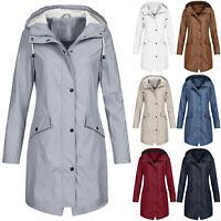 Women Solid Hooded Rain Winter Raincoat Waterproof Outdoor CA Jacket Windproof