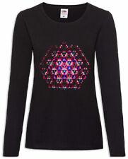Kaleidoscope V Women Long Sleeve T-Shirt Crystal Optical Reflection Reflector