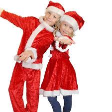 Vestito Completo Abito Natalizio per Bambini e Bambine 4-6/7-9 Anni Rosso