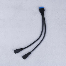 2Port USB 3.0 Female to 20 Pin Header Motherboard Cable Internal Connection UQ