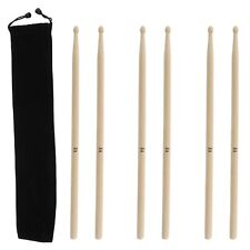 3 Pairs of 16 Inch Maple Wood 5a Drumsticks With Carry Bag for All Types of Drum