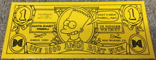 Genuine The Simpsons Pinball Promotional BART BUCK Data East NOS  *BRAND NEW A23
