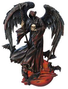"""10.25"""" Grim Reaper Of The Night Plaque Statue Santa Santisima Muerte Holy Death"""