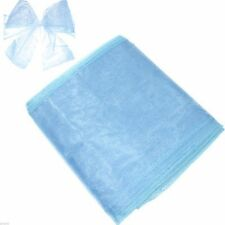 Blue Organza Chair Bows Pack of 6 - X80055