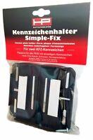 Kennzeichen Halter Set Simple Fix HP Autozubehoer 18509