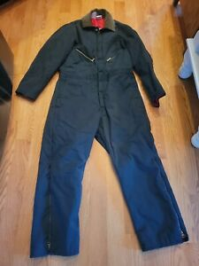 """Walls Blizzard Pruf Large (42-44) Short (27"""") Insulated Coveralls Workwear Blue"""