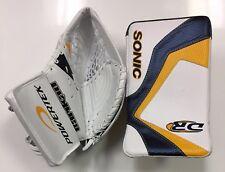 SPECIAL New ice hockey goalie blocker/catcher junior Jr goal glove set yellow
