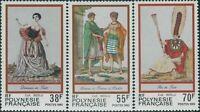 French Polynesia 1985 Sc#419-421,SG454-456 Costumes set MNH