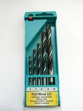 Set of 5 Quality German heller Wood drill bits 4mm 5mm 6mm 8mm 10mm NEW