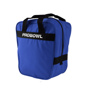 Pro Bowl Basic Single Ball Tenpin Bowling Ball Bag - Blue