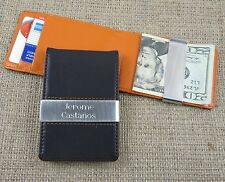 Personalized Leather Wallet w/Money Clip -Mens Gift- Tipo's Creations (BL280)