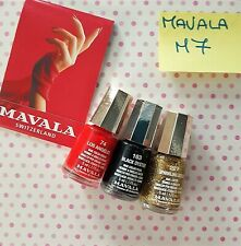 M7 LOTTO STOCK SET SMALTI MAVALA 74 LOS ANGELES 163 BLACK OYSTER 227 SPARK.GOLD