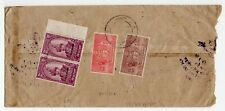 1930´s NEPAL OFFICIAL COVER, IMPRESSIVE OFFICIAL STAMPS FRANKING, RARE