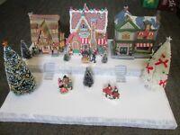 Christmas Village Display Base Platform J46 Dept 56 Lemax Dickens Snow Carol