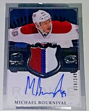 MICHAEL BOURNIVAL 13-14 THE CUP PRIME AUTO 3 COLOR JERSEY PATCH /249 RC RPA