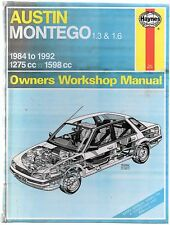 Austin Montego 1.3 & 1.6 1984-1992 Haynes Owners Workshop Manual