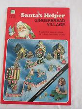 New Vtg Whitman Santa's Helper Gingerbread Man Village House Christmas Craft Kit