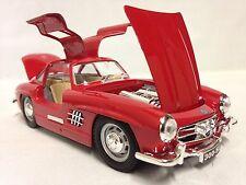 1954 Mercedes Benz 300SL, Italian Design, 1:24 Diecast Metal, Burago Toys, Red