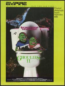 GHOULIES II__Original 1985 Trade AD / poster__Charles Band_Empire_Phil Fondacaro