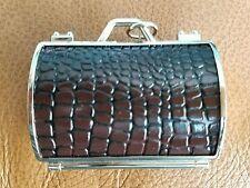 Judith Leiber Neiman Marcus Faux Alligator Moc Croc Coin Pill Purse Key charm