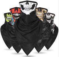 Ghost Biker Neck Gaiter Bandana Balaclava Face Cover Mask Headband Scarf