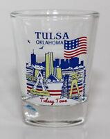 TULSA OKLAHOMA GREAT AMERICAN CITIES COLLECTION SHOT GLASS SHOTGLASS