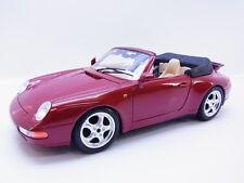 48371 BURAGO PORSCHE 911 Carrera 993 Cabrio Marrone DIE-CAST-modello di auto 1:18