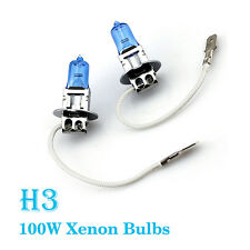 2X H3 100W Super Helle Weiße Halogenbirnen Xenon Hauptlicht Auto Van Punkt Licht